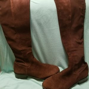 Arlena Suede Stretch Riding Boots